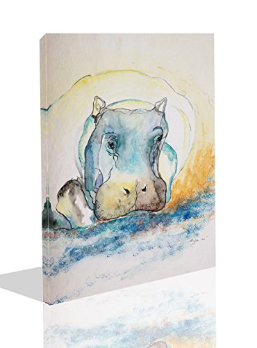 - The Melody Art-1 PCE Modern Giclee Prints Framed Animal Artwork Hippo Color Sketch Picture Print to Photo Printed Paintings on Canvas Wall Art Decor for Home Decorations 12 by 16 inch
