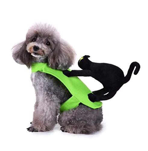 Taka Co Dog Halloween Costume Warm Dog Clothes for Small Dogs Soft Winter Pet Clothing Cat on Back Halloween Costume Puppy Pet Coat Clothes ()