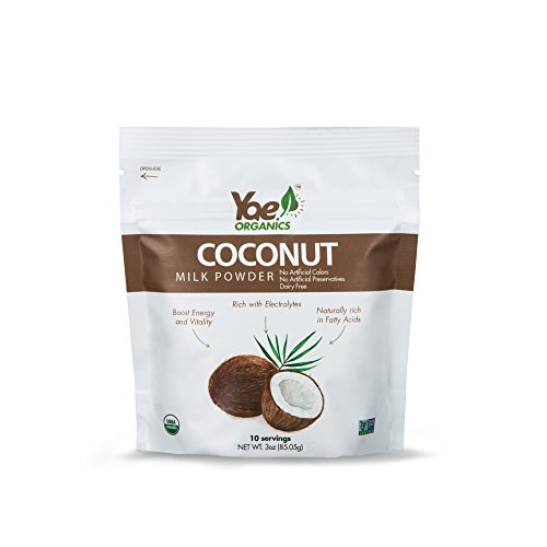 Yae! Organics 3oz/10 Servings 100% Organic Coconut Milk Powder, Non-GMO, Gluten Free, Vegan, Dairy Free Powdered Coconut Milk ()