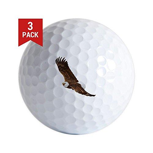 Golf Balls (Set of 3) Bald Eagle Flying