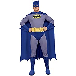 Rubie's Men's Batman The Brave and The Bold Adult Batman Costume, Blue/Grey, Medium