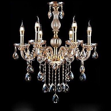 bobo lámparas ámbar clásicas 6 luces con función de cristal ...