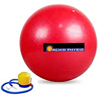 Orchid Physio Anti-Burst Yoga Exercise Gym Ball with Foot Pump (55-100 cms)