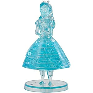 BePuzzled Original 3D Crystal Jigsaw Puzzle – Disney Alice in Wonderland Brain Teaser, Fun Decoration for Kids Age 12 and Up, 38 Pieces (Level 1)
