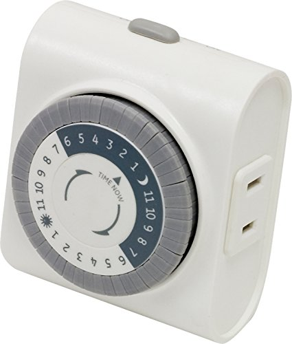 : GE 15267 Mechanical, Plug In, 24 h Polarized Timer, White