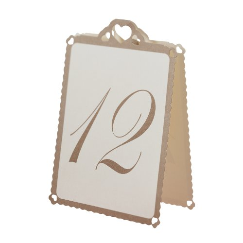 Ginger Ray Heart Table Tent Numbers 1-12, - Ray Number Ray
