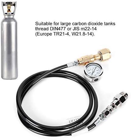 DIN477 1.5m tuyau de soda avec 3000psi manomètre accessoires de kit pour Soda Club Home Kitchen