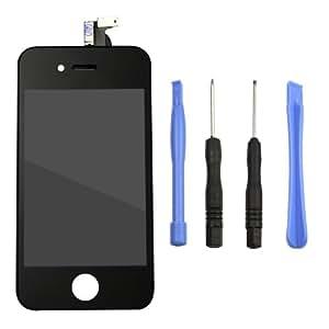 Jazooli AFRA000265 - Pantalla LCD y digitalizador de reemplazo iPhone 4, negro