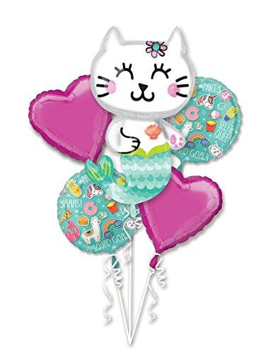 Selfie Celebration Mermaid Cat Bouquet Of Balloons