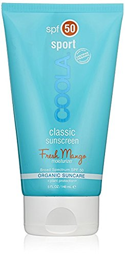 Spf 45 Defense Sunscreen (COOLA Organic Suncare, Fresh Mango Sport Classic Sunscreen, SPF 50, 5 Ounce)