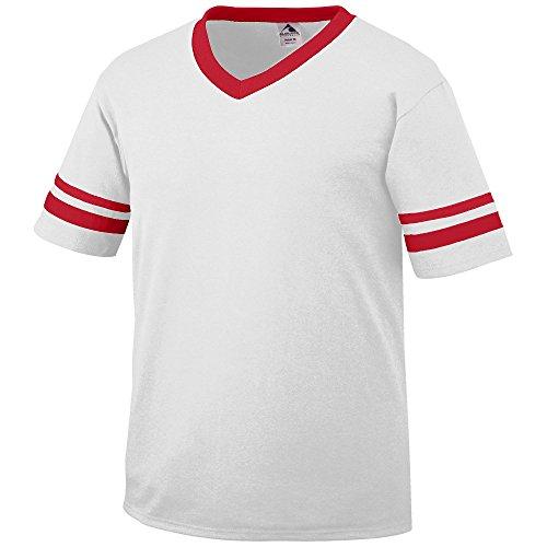 Augusta Sportswear MEN'S SLEEVE STRIPE JERSEY M White/Red