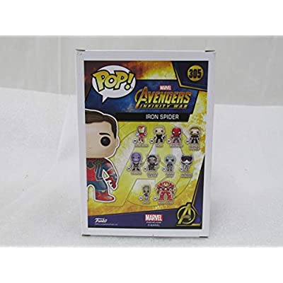 Funko Pop! Marvel Avengers Infinity War Iron Spider #305 (Unmasked): Toys & Games