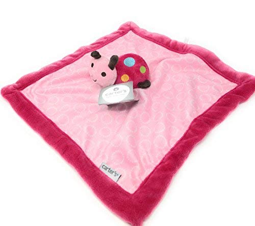 - Kids Preferred Carters Pink Ladybug Security Baby Blanket