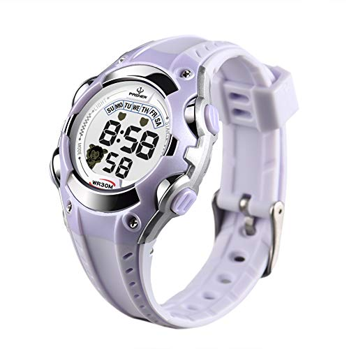 Kids Watch Children Waterproof Watch - Sport Watch Outdoor,Kids Digital Watch with Chronograph, Alarm,Child Wrist Watch for Boys, Girls (White)