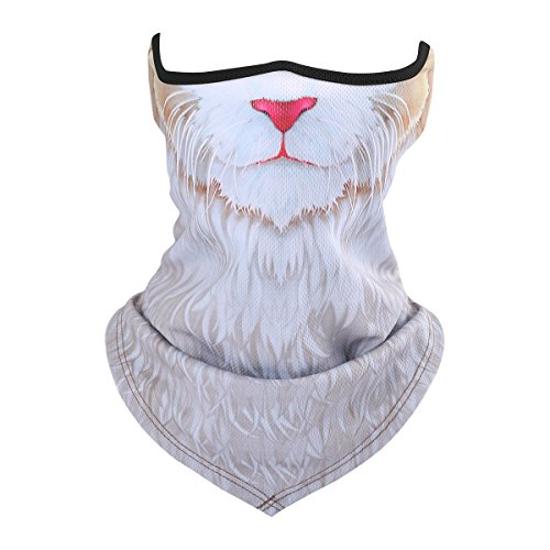 SHAWINGO 3D Animal Balaclava Breathable Windproof Half Face Mask for Motorcycle Cycling Halloween Party(03) -