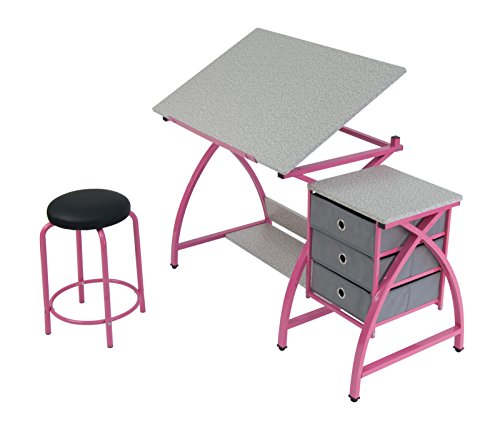 Comet Center with Stool in Pink / Spatter Gray by SD Studio Designs (Image #2)