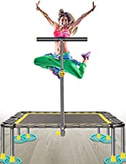 """40"""" Mini Fitness Trampoline Max. Load 220lbs Safe Silent Easy Installation Indoor Exercise Foldable Tramp"""