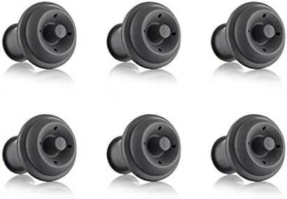 Vacu Vin Wine Saver Vacuum Stoppers Set of 6 – Grey