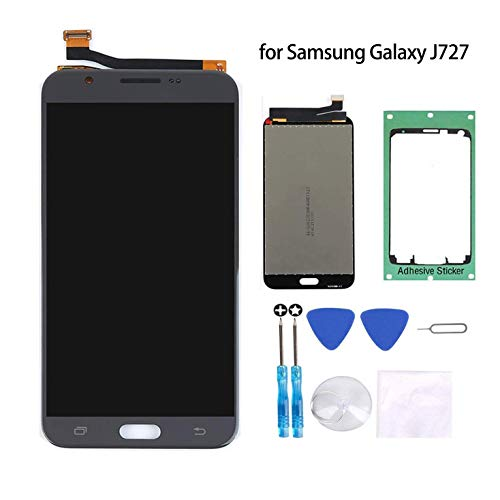Samsung Galaxy J7 Screen Replacement LCD Display Touch Digitizer Assembly  Black for J7 2017 SM-J727 J727R4 J727V J727P Sky Pro SM J727A with