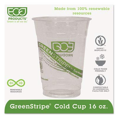 Eco-Products EP-CC16-GS GreenStripe Renewable & Compostable Cold Cups, 16 oz, (Case of 1000) for $<!--$99.34-->