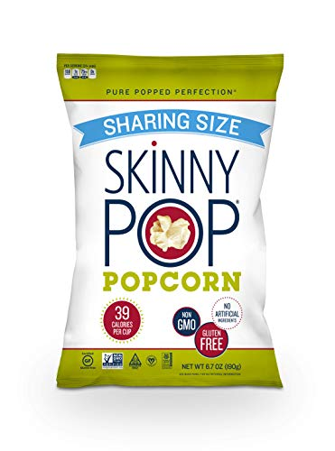 ThinPop Original Popcorn, Sharing Size Popcorn Bags, 6.7 Ounce (Pack of 6), Gluten Free Popcorn, Non-GMO, No Artificial Ingredients, Healthy Snack