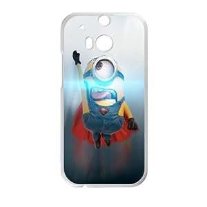 HTC One M8 Cell Phone Case White Minion Superman Uropd