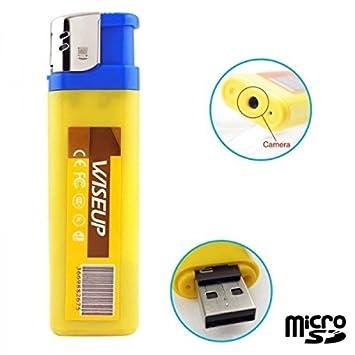 Mechero cámara espía Mini con Micro Integrado - Tarjeta Micro SD 4 GB: Amazon.es: Bricolaje y herramientas