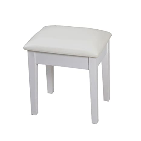 Fantastic Facilehome Large Size Vanity Stool Dressing Stool With Cushion And Solid Legs White Inzonedesignstudio Interior Chair Design Inzonedesignstudiocom