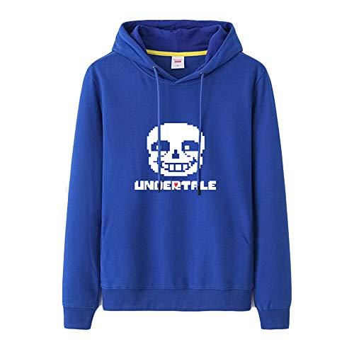 Cappuccio Per Blue Moda E Donne Casual Uomo Stampa Undertale Comoda Felpe Pullover Sportive Con wqYZXOZx