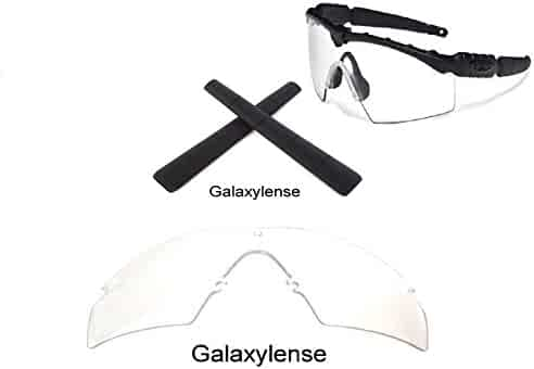 75f639b1ab Galaxy Replacement Clear Lenses + Black Earsocks For Oakley Si Ballistic M  Frame 2.0 Z87