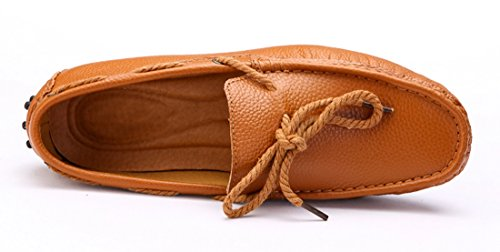 Loafers Driving Business Bronze Flats Leather Penny TDA Stylish Leisure Slip Men's Boat Moccasin On Shoes vwnY0qO4