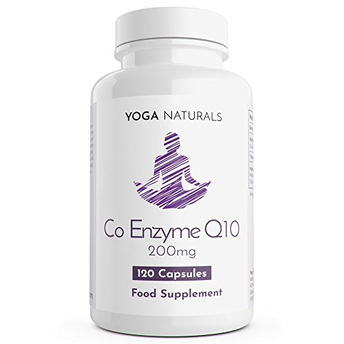 Coenzyme q10 200mg co q10 CoQ10 200mg Co Enzyme Q10 120 coenzyme q10 coenzyme-q10 Capsules 4 Months Supply of coq10 Tablets co- Enzyme q10 co enzymes co Enzyme UK Manufactured by Yoga Naturals