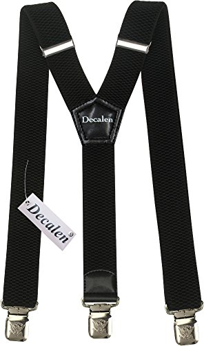 Mens+Suspenders+Wide+Adjustable+and+Elastic+Braces+Y+Shape+with+Very+Strong+Clips+-+Heavy+Duty+%28Black%29