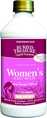 Buried Complete Treasure (Buried Treasure Women's Daily Liquid Multivitamin and Mineral Supplement Specially Formulated for Women's Nutrition with Omega 3 DHA Blend 16 oz)