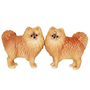 Pacific Giftware Pomeranian Dog Salt and Pepper Shakers Set, Magnetic 2