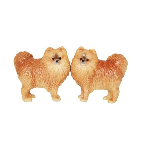 Pacific Giftware Pomeranian Dog Salt and Pepper Shakers Set, Magnetic 1