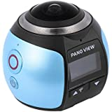 Andoer 360 Degree Wifi 2448P 30FPS 16M Fisheye Film Source Panorama Camera for Virtual Glasses VR Action Sports Outdoor Activities Camera Camcorder Car DVR (update)