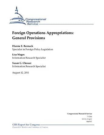 Foreign Operations Appropriations: General Provisions