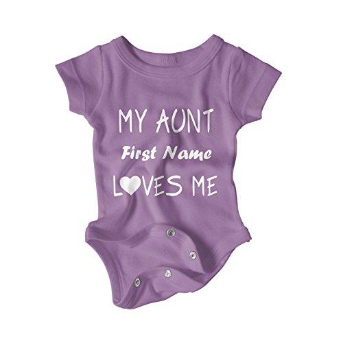 (Custom Aunt Love Baby Onesie (24-Month,)