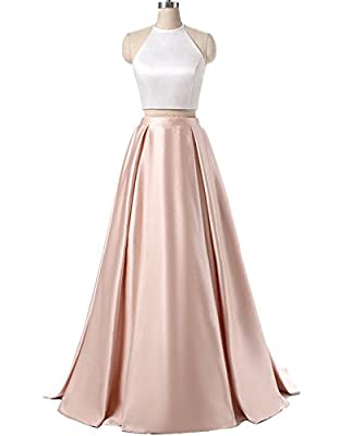 ALW Women's Two Piece Long Prom Dress Formal Homecoming Evening Gown ALW077