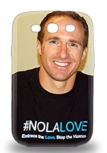 Galaxy Tpu Phone 3D PC Case With Fashionable Look For Galaxy S3 NFL New Orleans Saints Drew Brees #9 ( Custom Picture iPhone 6, iPhone 6 PLUS, iPhone 5, iPhone 5S, iPhone 5C, iPhone 4, iPhone 4S,Galaxy S6,Galaxy S5,Galaxy S4,Galaxy S3,Note 3,iPad Mini-Mini 2,iPad Air )