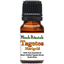 Miracle Botanicals Tagetes (Marigold) Essential Oil - 100% Pure Tagetes Minuta - 10ml or 30ml Sizes- Therapeutic Grade - 10ml