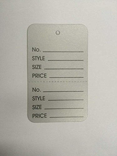 1-1/4''×1-7/8'' Clothing Price Labels/clothing Tag/perforated Price Coupon Tags, Silver Two Part by Metronic International