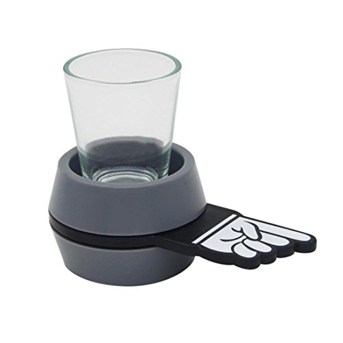 E-SCENERY Portable Spinning The Shot For Drinking Game, Shot Glasses Spinner For Home Party