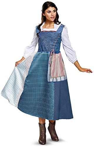 Disney Beauty and The Beast Live Action Belle Village Dress Deluxe Adult Costume XL