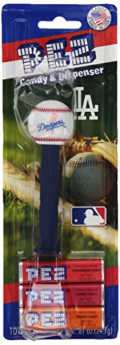 Baseball Candy Dispensers (PEZ MLB LA Dodgers, 0.87-Ounce Candy Dispensers (Pack of 12))