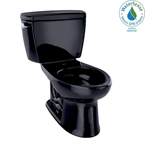 TOTO CST744E#51 Eco Drake Two-Piece Elongated 1.28 GPF Toilet, Ebony (Elongated Drake Bowl Ebony)