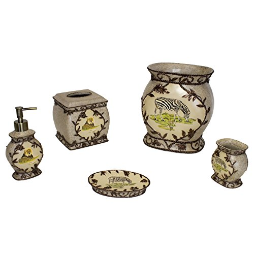 Sherry Kline Pattern - Sherry Kline Jungle Safari Bath Accessory 5-piece Set