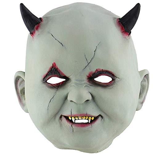 Halloween Scary Masks Vampire Latex Full Face Mask Halloween Masquerade Mascara Terror Cosplay Party Props]()