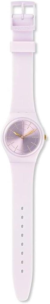 Swatch Women's Guimauve GP148 Pink Rubber Swiss Quartz Fashion Watch